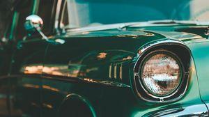 Preview wallpaper retro, car, headlight, vintage