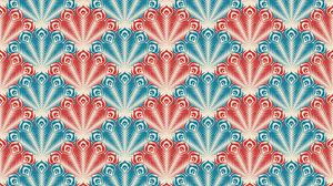 Preview wallpaper retro, texture, patterns, vintage, peacock, feathers