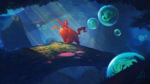 Preview wallpaper rider, creature, forest, fantasy, art