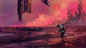 Preview wallpaper rider, future, fantasy, futurism, art