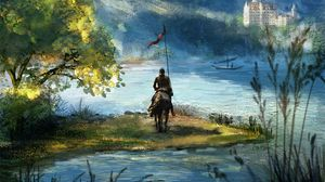 Preview wallpaper rider, knight, horse, art