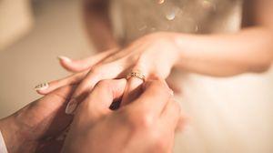 Preview wallpaper ring, love, romance, wedding