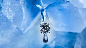 Preview wallpaper ring, ice, decoration, jewel, shine, macro