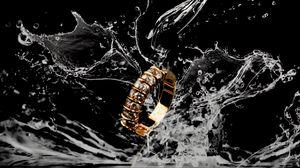 Preview wallpaper ring, splash, liquid