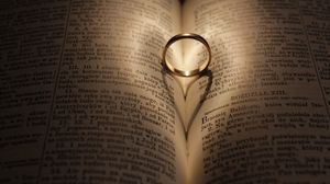 Preview wallpaper ring, wedding, book