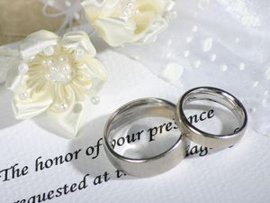 Preview wallpaper rings, wedding bands, wedding, invitation