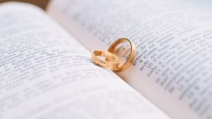Preview wallpaper rings, wedding, book, couple, love