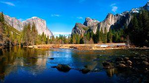 Preview wallpaper river, mountain, landscape