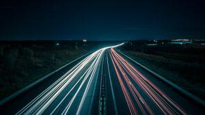 Preview wallpaper road, lighting, night