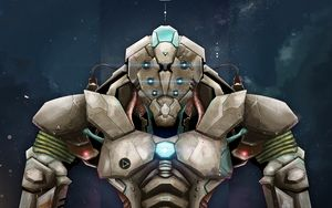 Preview wallpaper robot, armor, art, warrior