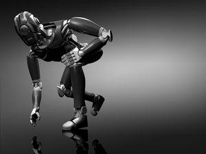 Preview wallpaper robot, arms, equipment, gray