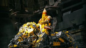 Preview wallpaper robot, construction, rider, fantasy