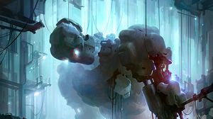 Preview wallpaper robot, cyborg, future, metallic, art