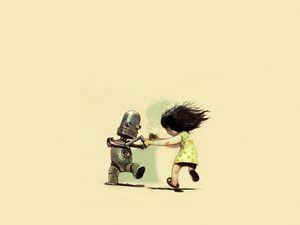 Preview wallpaper robot, dance, girl