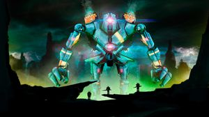 Preview wallpaper robot, warriors, battle, art, fantasy, dark