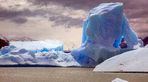 Preview wallpaper rock, ice, ocean, shine
