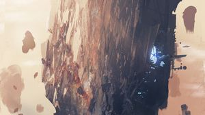 Preview wallpaper rock, station, fantasy, sci-fi, art
