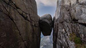 Preview wallpaper rocks, gorge, stone, nature, landscape