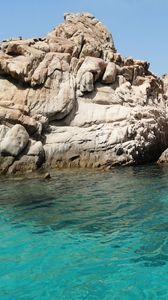 Preview wallpaper rocks, relief, sea, water, nature, landscape