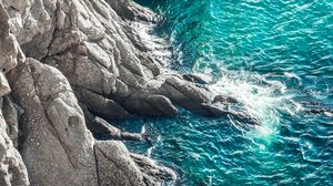 Preview wallpaper rocks, sea, surf, waves