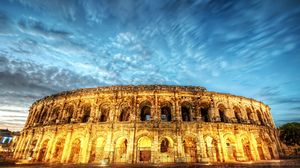 Preview wallpaper rome, italy, colosseum, light, night, hdr