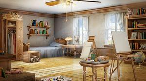 Preview wallpaper room, art, artist, interior