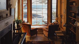 Preview wallpaper room, interior, furniture, window, view