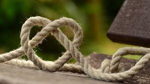 Preview wallpaper rope, heart, weaving