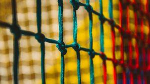 Preview wallpaper rope, mesh, knots, macro, blur
