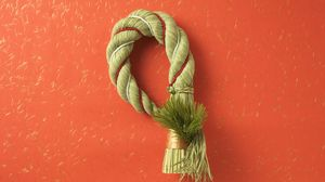 Preview wallpaper rope, red, knot, brush
