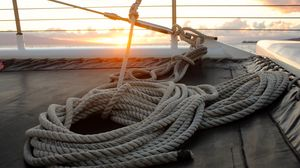 Preview wallpaper rope, sail, sailing boat, sea