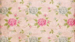 Preview wallpaper rose, texture, leaves, flowers