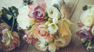 Preview wallpaper roses, bouquet, composition, design