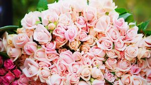 Preview wallpaper roses, bouquet, pink, tenderness, gift