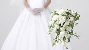 Preview wallpaper roses, flowers, flower, white, bride, wedding
