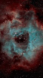 Preview wallpaper rosette nebula, nebula, shine, stars, space