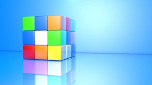 Preview wallpaper rubiks cube, colorful, face, cube