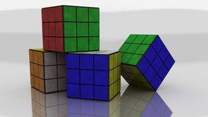 Preview wallpaper rubiks cube, colorful, size, shape