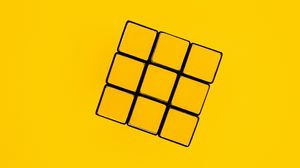 Preview wallpaper rubiks cube, cube, levitation, yellow