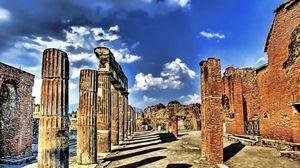 Preview wallpaper ruins, columns, sky