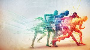Preview wallpaper run, person, speed