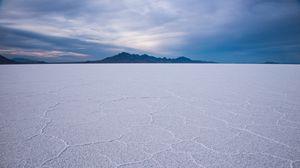 Preview wallpaper saline, desert, white, surface, landscape, salt