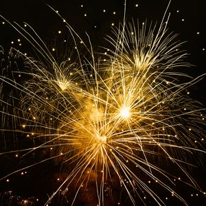Preview wallpaper fireworks, holiday, sparks, rays
