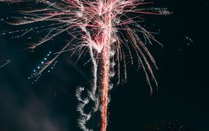 Preview wallpaper salute, fireworks, holiday, sparks, night