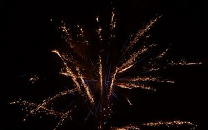 Preview wallpaper salute, fireworks, holiday, sparks, black