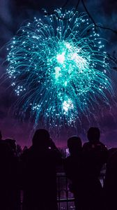 Preview wallpaper salute, holiday, fireworks, night