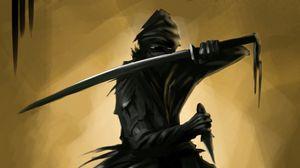 Preview wallpaper ninja, warrior, sword, dagger, art