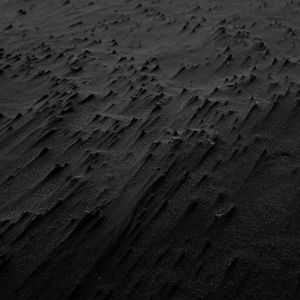Preview wallpaper sand, black, beach, texture, karekare, new zealand