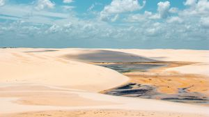 Preview wallpaper sand, desert, clouds, sky