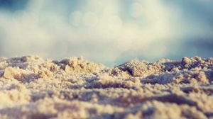 Preview wallpaper sand, sky, light, blue